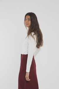 Rock - Corduroy Long Skirt - blau/weinrot - thinking mu