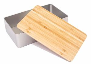 """Vorratsdose """" BAMBOO """" mit Natur Deckel aus Bambus Holz - DS"""