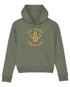 Damen Hoodie aus Bio-Baumwolle 'Save the Bees' - University of Soul