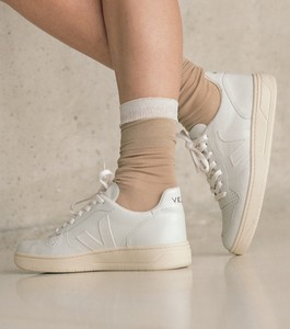 Sneaker Damen - V-10 Leather - Extra White - Veja
