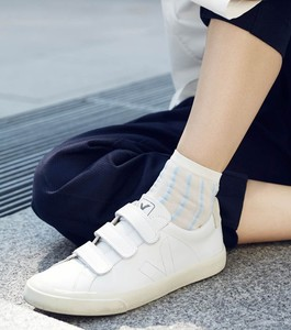 Sneaker Damen -  Esplar 3-Lock Leather - Extra White - Veja