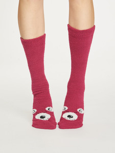 Fuzzy Animal Recycled Socks - Thought