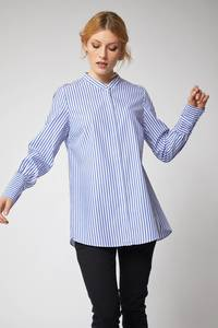 Streifenhemd weiß/blau - Lanius