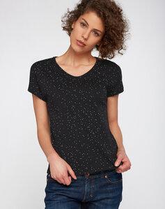 T-Shirt Casual schwarz gesprenkelt - recolution