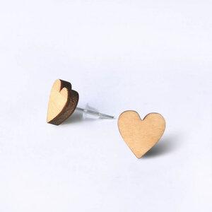 Holz-Ohrstecker Herz - Gary Mash