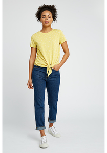 T-Shirt - Cassie Dragonfly Top - Yellow - People Tree