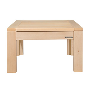 Beistelltisch Betttisch Kindertisch ECO Massiv-Holz Buche Natur 50 x 45 x 50 cm  - NATUREHOME