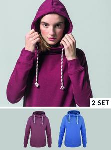 Damen Hoodie 2er Pack - Fairtrade & GOTS zertifiziert - MELAWEAR