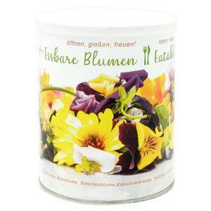 Essbare Blumen - Blütenmischung - Anzuchtset mit 7 Sorten in der Dose - MacFlowers