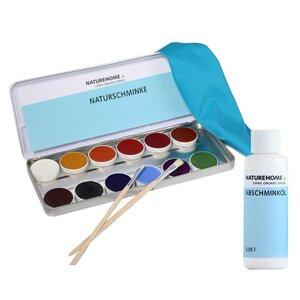 Set mit Naturschminke und Abschminköl für Kinder und Erwachsene zum Fasching und Karneval - NATUREHOME