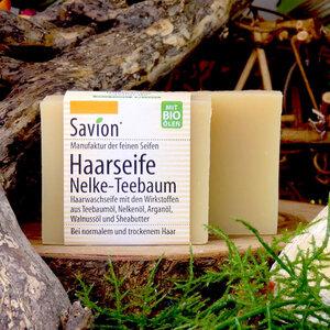 Savion Haarseife Nelke-Teebaum vegan 85g - Savion feine Seifen