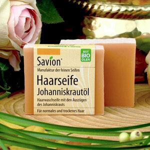 Savion Haarwaschseife Johanniskraut 85g - Savion feine Seifen
