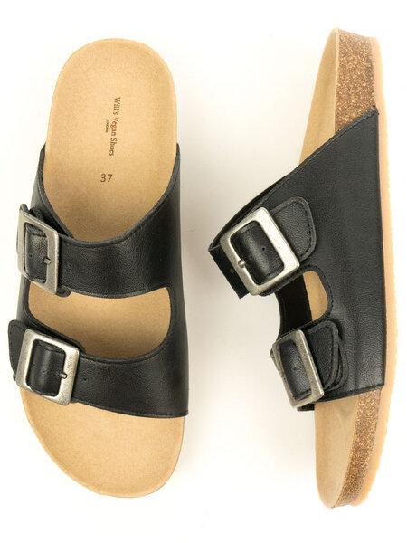 Zwei Riemen Sandalen Mit Fußbett Damen