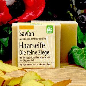 """Savion """"Die feine Ziege"""" Ziegenmilch Haarseife 85g - Savion"""