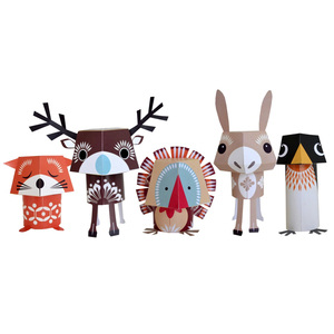 "Papier-Bastel-Set ""Festive Friends"" - mibo"