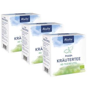 Alvito Mein Kräutertee 3 x 40 Teebeutel (240 g) Bioqualität - Alvito