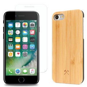 EcoClassic iPhone 7/8 Case + Panzerglas  - Woodcessories