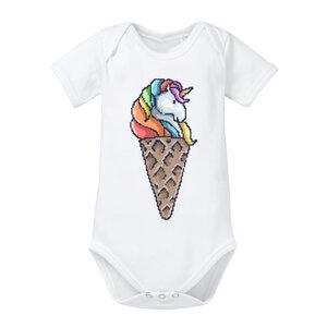 Unicorn Ice Cream - Baby Body Shortsleeve  - little BIG Family