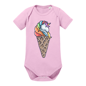 Unicorn Ice Cream - Baby Body Shortsleeve  - little BIG Family