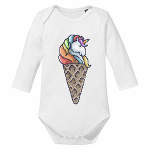 Unicorn Ice Cream - Baby Body Longsleeve - little BIG Family