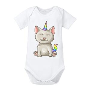 Unicorn Cat - Baby Body Shortsleeve - little BIG Family