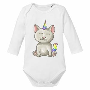 Unicorn Cat - Baby Body Longsleeve Einhorn Katze - little BIG Family