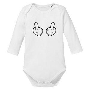 Stinkefinger langarm Baby-Body Bio-Baumwolle  - little BIG Family