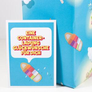 Postkarte Containerladung - Bow & Hummingbird