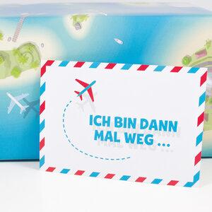 "Postkarte ""Ich bin dann mal weg"" - Bow & Hummingbird"