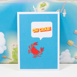 "Postkarte ""Oh crab"" - Bow & Hummingbird"