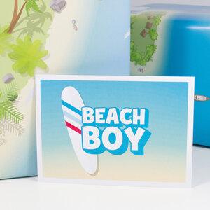 Postkarte Beach Boy - Bow & Hummingbird