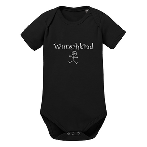 Wunschkind Kurzarm Baby-Body Bio-Baumwolle  - little BIG Family