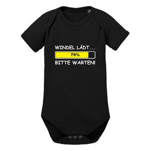 Windel lädt ... bitte warten - Kurzarm Baby-Body Bio-Baumwolle  - little BIG Family
