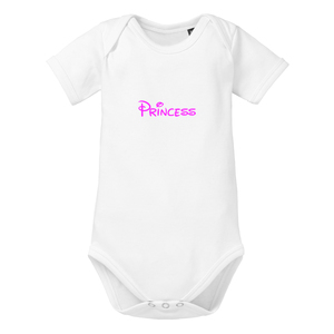 Princess - Kurzarm Baby-Body Bio-Baumwolle  - little BIG Family