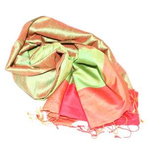 FELICITAS Edler Schal aus handgewebter Seide - Schönes aus Indochina