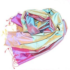 VERONIKA Schal aus handgewebter Seide - Schönes aus Indochina