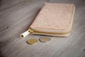 Portemonnaie - Wallet, Vegan Cork, Brieftasche aus Kork mit Zipper - BY COPALA