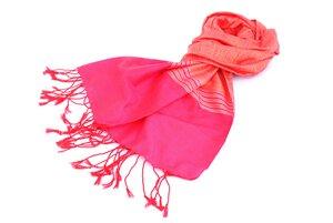 Softer Baumwollschal orange/pink - Schönes aus Indochina