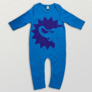 """""""Elefant"""" Baby Jumpsuit - HANDGEDRUCKT"""