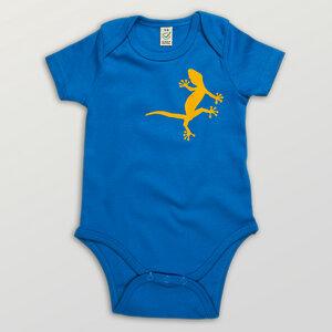 """""""2 Geckos"""" Baby Body  - HANDGEDRUCKT"""