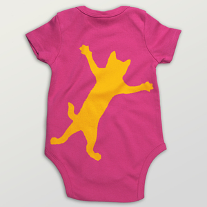 """Klammerkatze"" Baby Body  - HANDGEDRUCKT"