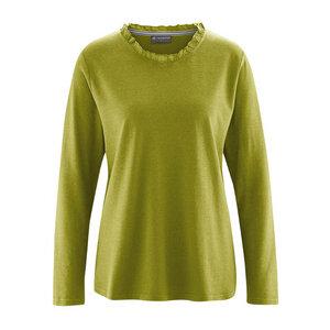 Damen Langarm-Shirt mit Rüsche - HempAge