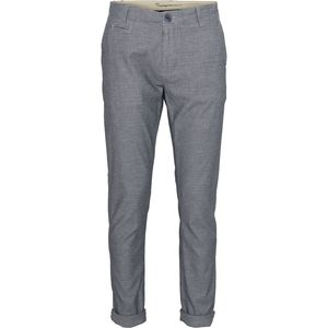 Yarndyed Stretch Chino 2-coloured Total Eclipse - KnowledgeCotton Apparel