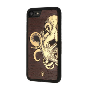 OCTOPUS Holz Hülle Case für iPhone 8/7, iPhone XS/X - WOODTASTIC