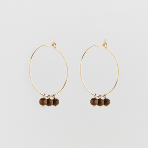 Sandelwood Creole Earrings - Julia Otilia Organic Jewellery