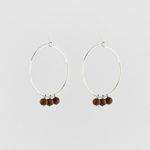 Sandelwood Creole Earrings - Julia Otilia Conscious Jewellery