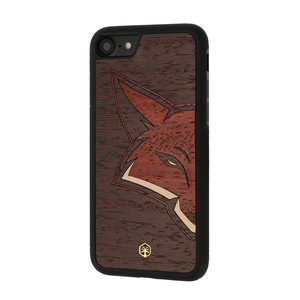 RED FOX Holz Hülle Case für iPhone 8/7 - WOODTASTIC