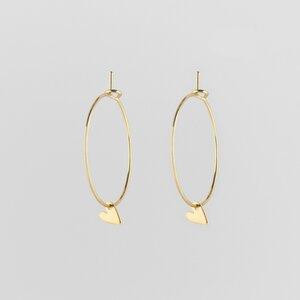Tiny Heart Creole Earrings - Julia Otilia Conscious Jewellery