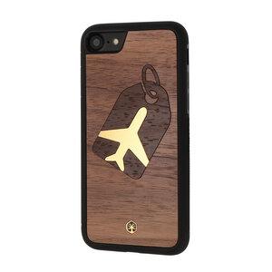 GLOBETROTTER Holz Hülle Case für iPhone 8/7 - WOODTASTIC