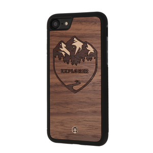 EXPLORER Holz Hülle Case für iPhone 8/7 - WOODTASTIC